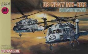 DML MH60S Knighthawk USN Helicopter (2 Kits) Plastic Model Airplane Kit 1/144 Scale #4605