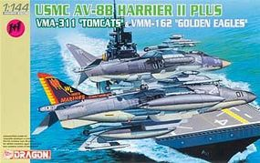 DML AV8B Harrier II Tomcat & Golden Eagle USMC Plastic Model Airplane Kit 1/144 Scale #4622