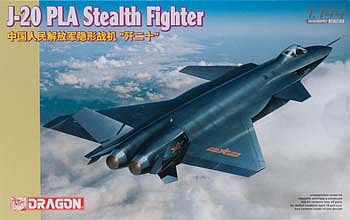 DML J-20 PLA Stealth Fighter Plastic Model Airplane Kit 1/144 Scale #4625