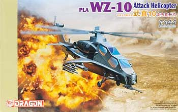 Dragon Models PLA WZ-10 Attack Helicopter -- Plastic Model Helicopter Kit -- 1/144 Scale -- #4632