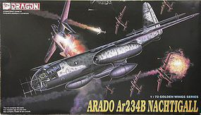 DML Ar234B Nachtigall Plastic Model AirplaneKit 1/72 Scale #5012