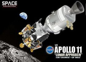 DML Apollo II Lunar Approach CSM Columbia + LM Eagle Space Program Plastic Model 1/72 #50375