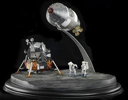 DML NASA Apollo 11 Lunar Landing CSM Columbia & LME Space Program Diecast Model 1/72 #50381