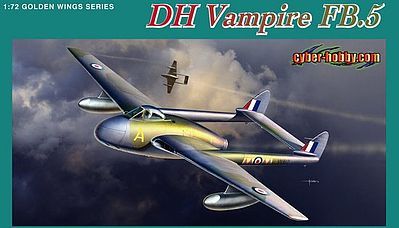 DML DH Vampire FB5 Fighter/Bomber (New Tool) Plastic Model Airplane Kit 1/72 Scale #5085