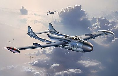 Dragon Models Sea Venom FAW21 Royal Navy Fighter -- Plastic Model Airplane Kit -- 1/72 Scale -- #5096