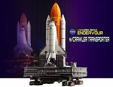DML 1/400 NASA- Space Shuttle Endeavour w/Crawler Transporter (Assembled Die Cast)