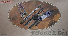 DML Fokker Dr.I Knights of the Sky Collection Plastic Model Airplane Kit 1/48 Scale #590
