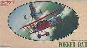 DML Fokker Dr.VII Knights of the Sky Collection Plastic Model Airplane Kit 1/48 Scale #5905