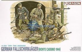 DML German Fallschirmjager Monte Cassino 1944 Plastic Model Military Figure Kit 1/35 Scale #600