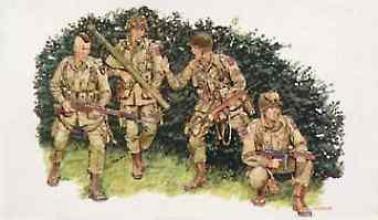 DML US Army Airborne Normandy 1944 (Re-Issue) Plastic Model Military Figure 1/35 Scale #6010