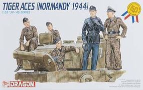DML Tiger Aces Normandy (5) Plastic Model Military Figure 1/35 Scale #6028