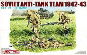 DML Soviet Anit Tank Team Plastic Model Military Figure Kit 1/35 Scale #6049
