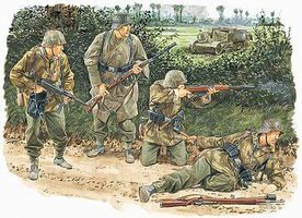 DML Kampfgruppe Von Luch Normandy 1944 Plastic Model Military Figure 1/35 Scale #6155