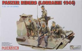 DML Panzer Riders Lorraine 1944 (4) Plastic Model Military Figure 1/35 Scale #6156