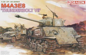 Dragon Models M4A3E8 Thunderbolt VII Tank -- Plastic Model Military Vehicle Kit -- 1/35 Scale -- #6183