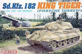 DML Sd.Kfz. 182 King Tiger Porsche Turret Plastic Model Military Vehicle Kit 1/35 Scale #6189