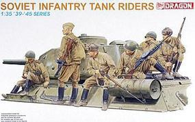 DML Soviet Infantry Tank Riders (6) Plastic Model Military Figure 1/35 Scale #6197