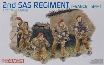Dragon Models 2nd SAS Regiment France 1944 -- Plastic Model Military Figure Kit -- #6199