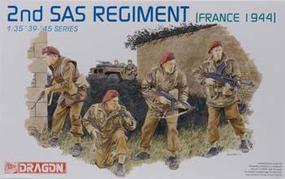 DML 2nd SAS Regiment France 1944 Plastic Model Military Figure Kit #6199