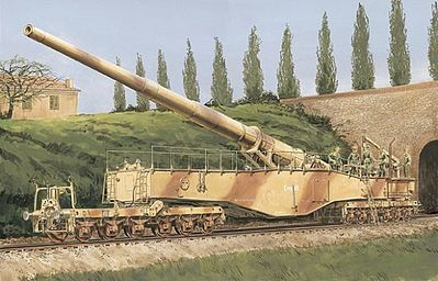 Dragon Models 28cm K5(E) Leopold German Railway Gun -- Plastic Model Kit -- 1/35 Scale -- #6200