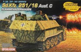 DML SdKfz 251/16 Ausf C FlammPzWg Plastic Model Military Vehicle 1/35 Scale #6202