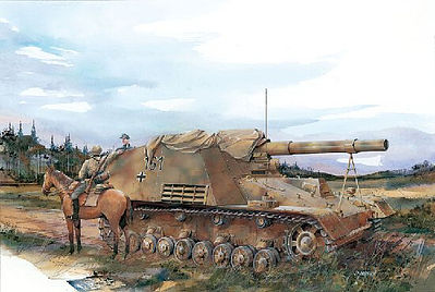 Dragon Models Sd.Kfz.165 HUMMEL Early -- Plastic Model Tank Kit -- 1/35 Scale -- #6204