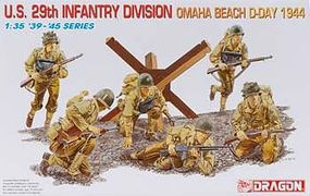 DML US 29th Infantry Div Omaha Beach D-Day (6) Plastic Model Military Figure 1/35 Scale #6211