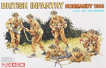 Dragon Models British Infantry Normandy (6) -- Plastic Model Military Figure -- 1/35 Scale -- #6212