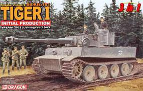 DML Tiger 1 Initial Type Plastic Model Military Tank Kit 1/35 Scale #6252