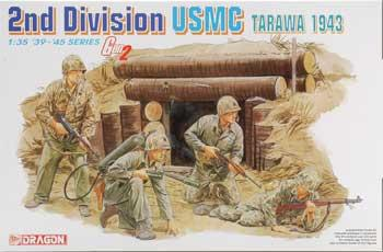 Dragon Models USMC 2nd Division Tarawa 1943 -- Plastic Model Military Figure -- 1/35 Scale -- #6272