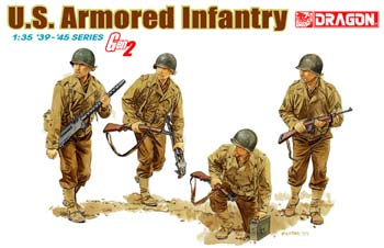 DML US Armored Infantry Gen 2 (4) Plastic Model Military Figure Kit 1/35 Scale #6366