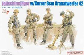 DML Fallschirmjager with Kurzer 8cm Gr.W.42 Team Plastic Model Military Figure Kit 1/35 #6373