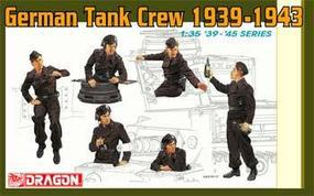 DML German Tank Crew 1939-43 (6) Plastic Model Military Figure 1/35 Scale #6375