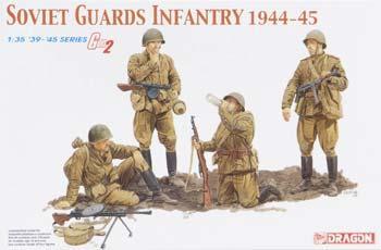 Soviet Guards Infantry Figure Set 1944 1945 Plastic Model