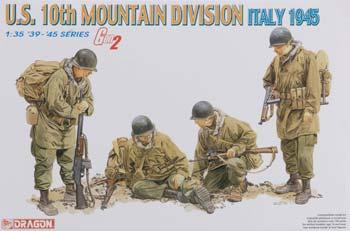 DML US Army 10th Mountain Division Italy 45 Plastic Model Military Figure Kit 1/35 Scale #6377