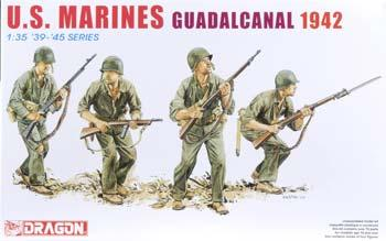 DML USMC Guadacanal 1942 (4) Plastic Model Military Figure 1/35 Scale #6379