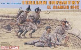DML Italian Infantry El Alamein 42 (4) Plastic Model Military Figure Kit 1/35 Scale #6391