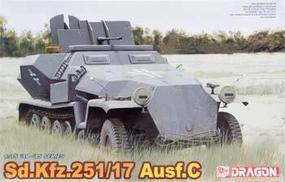 DML SdKfz 251/17 Ausf C Halftrack Plastic Model Halftrack Kit 1/35 Scale #6395
