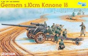 DML German s10cm Kanone 18 Field Gun Plastic Model Artillery Kit 1/35 Scale #6411