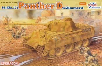 Dragon Models Panther Ausf.D w/Zimmerit Coating -- Plastic Model Tank Kit -- 1/35 Scale -- #6428