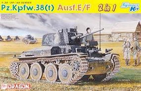 DML PzKpfw 38(t) Ausf E/F Tank (2 in 1) Plastic Model Tank Kit 1/35 Scale #6434