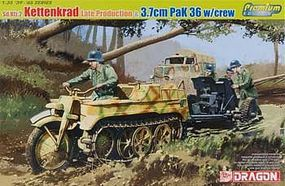 DML Sd.Kfz.2 Kettenkrad/3.7cm Pak 36 w/Crew Plastic Model Halftrack Kit 1/35 Scale #6446