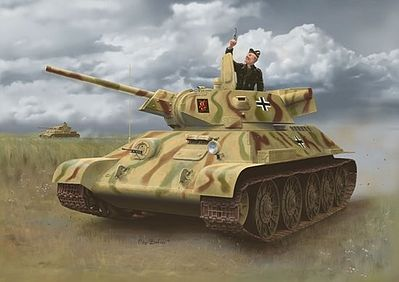 Dragon Models T-34-747 STZ Mod. 1942 Late Production -- Plastic Model Tank Kit -- 1/35 Scale -- #6449