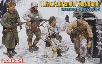 Dragon Models 11.Frw.Pz.Gren.Div Nordland Vistula-Oder 1945 -- Plastic Model Military Figure -- 1/35 -- #6455