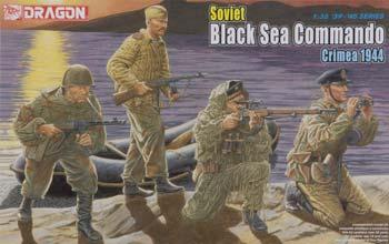 Dragon Models Soviet Black Sea Commando Crimea 1944 (4) -- Plastic Model Military Figure -- 1/35 Scale -- #6457