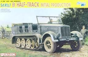 DML SdKfz 7 8-Ton Initial Halftrack Plastic Model Halftrack Kit 1/35 Scale #6466