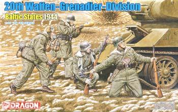 DML 20th Waffen Grenadier Division Baltic States 1944 Plastic Model Military Figure 1/35 #6477