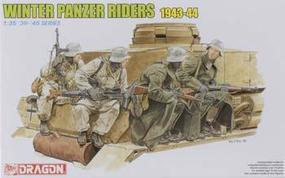 DML Panzer Riders Winter 1943-44 (4) Plastic Model Military Figure 1/35 Scale #6513