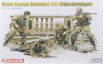 DML Monte Cassino Defenders 1944 Fallschirmjager Plastic Model Military Figure 1/35 Scale #6514