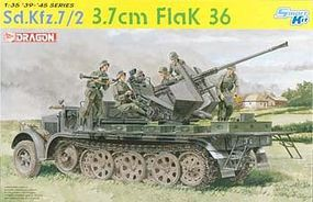 DML SdKfz 7/2 w/3.7cm FlaK 36 Plastic Model Halftrack Kit 1/35 Scale #6541